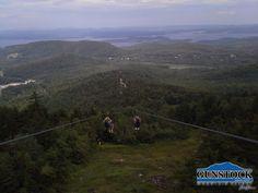 Zipping Gunstock Mountain, NH
