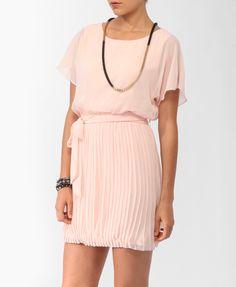 $25 Pleated Blouson Dress   FOREVER21