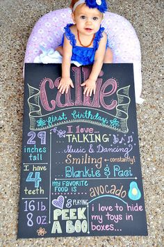 DIY for all u moms! Birthday Chalkboard Tutorial using foam board and metallic sharpies, perfect for little ones because it won't smudge!