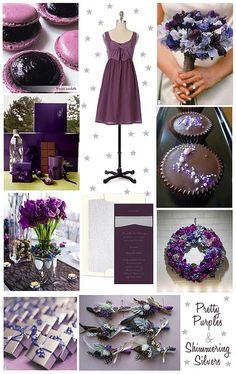 dramatic purple / violet & silver wedding inspiration by finestationery, via Flickr