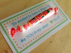 Teacher Bits and Bobs - first day gift for students