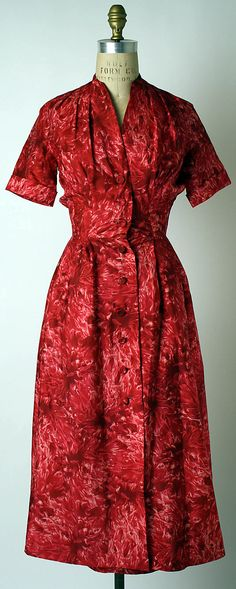 """Christian Dior  and Hattie Carnegie  """"Red Dahlia,"""" spring/summer 1952. House of Dior"""