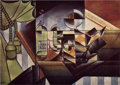 Juan Gris (1887 - 1927)   Analytical Cubism   The Watch (The Sherry Bottle) - 1912