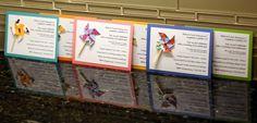 pinwheel party invitation, pinwheel theme
