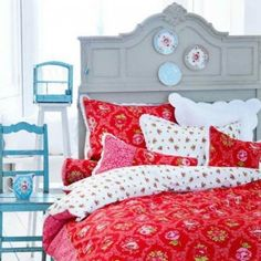 I need red bedding about right now