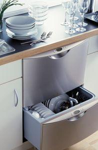 Narrow Countertop Dishwasher : Dishwasher drawers: stainless steel below counter Fisher & Paykel ...