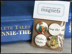 WinniethePooh magnets  Set of four 1 by SomethingBlueStudios
