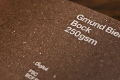 Gmund Bier paper stock from GF Smith