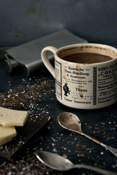 Hot chocolate with whiskey.
