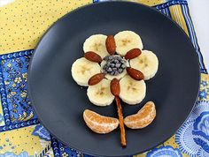 fruit and nut flower - cute kids lunch or snack idea!