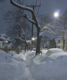 Snowy Night, Boston,Massachusetts
