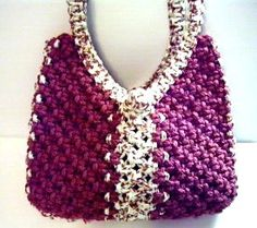 Macrame bag. This site offers a lot of lovely projects for you to do. Check it out! :)