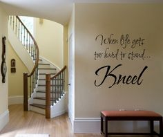 Vinyl Lettering Wall Decal When life gets to by DesignDivasWallArt, $9.95