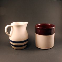 Vintage Roseville Pitcher and Crock by ChompMonster on Etsy, $29.00