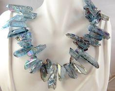Blue nugget necklace by jewelryandmorebykat on Etsy, $25.00