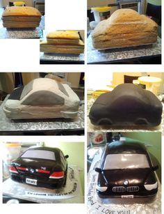 cake with cars ww, car cakes, carv tutori, bmw cakes, food coloring, cake carv, car fondant cake, black, bmw car