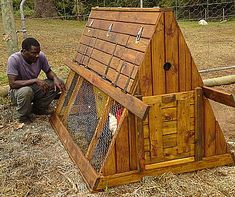 Frame Chicken coop, chicken tractor, hobby farming, The City Chicken