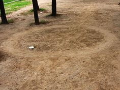 Circle in the dirt.