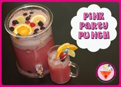 punch recip, club parti, drink, parti punch, pink parties
