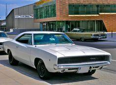 68 charger, dodg charger, sport cars, 1968 dodg, black white