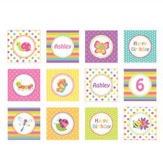 SPRING BUGS PRINTABLE CUPCAKE TOPPERS