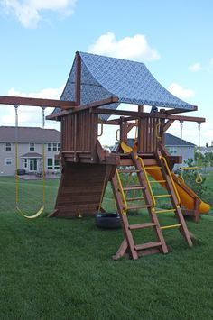 how to make a new canopy for the swing set | gives it a fresh new look