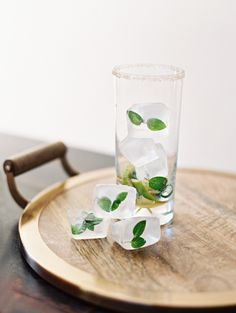 mint ice cubes, http://ruffledblog.com/whiskey-bean-cocktail-recipe