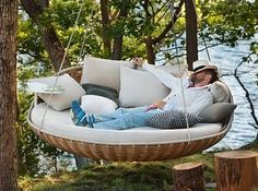 The hanging swing thats basically a vacation in a chair. | 30 Impossibly Cozy Places You Could Die Happy In