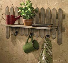 Picket Shelf for fence decor