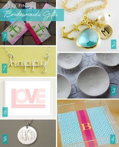 Bridesmaid gift ideas via Floridian weddings