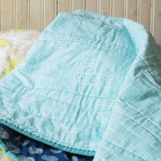 bitty beluga whole cloth quilt // wild olive
