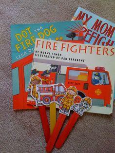 Preschool Printables: Free Fire Safety Sticks