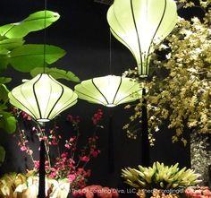 Outdoor Illumination: Shapely Hanging Garden Lanterns | The Decorating Diva,LLC