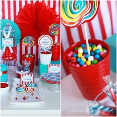 candy buffet, color schemes, birthday parties, party themes, candies
