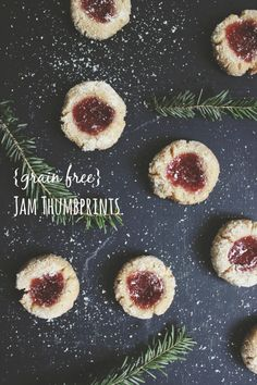 {grain free} Jam Thumbprint Cookies | With Food + Love
