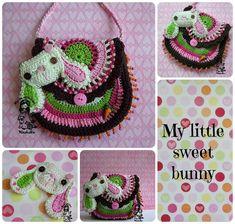 My little sweet bunny  crochet pattern purse DIY by VendulkaM, $5.30
