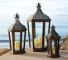 hill lantern, decorative candles, lantern potterybarn, potteri barn, holiday lights, exterior lighting, lighting fixtures, park hill, pottery barn