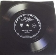 """Neil Peart - """"Pieces of Eight"""" flexi-disc. A VERY cool item."""