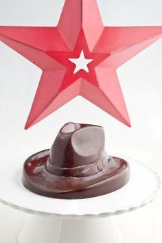 Chocolate cowboy hat