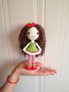 Santa'a little helper Crocheted doll Christmas