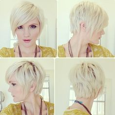 If I ever cut my hair short it might look something like this. Not bleach blonde.