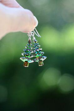 Swarovski Crystal Vitrail Christmas Tree Earrings by MyPrettyChicBoutique, $15.00