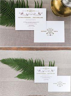 Hunger Games Wedding Invite