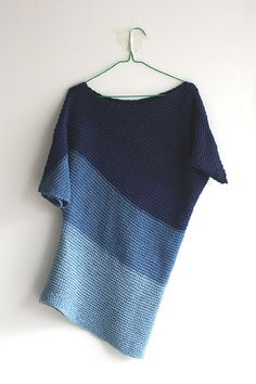 indigo sweater, knitting