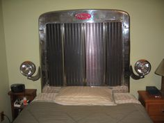 Peterbuilt Headboard.  I'm guessing you would have to be a trucker to appreciate this.  LOL