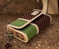 Accordion wallet/clutch sewing pattern - PDF
