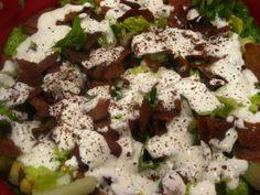 Layered Pita Eggplant Salad with Yogurt Dressing | The Levantess