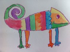 Parent Art Docents: Chameleon Art