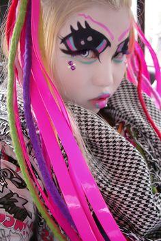 lip makeup, extrem makeup, candi, facepaint, eye