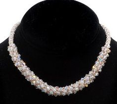 This Wedded Bliss Beaded Kumihimo Necklace will make you feel beautiful on your big day.